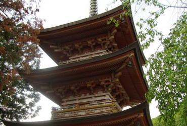 """Интенсив-курс в Японии 2014. Яманаси додзе. День 5.  Храм """"Чозендзи"""". Ювелирный музей."""