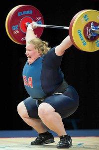 Женщина тяжелоатлет